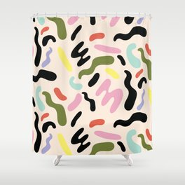 SQUIGGLE BEAN Shower Curtain