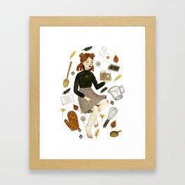 recipe witch Framed Art Print