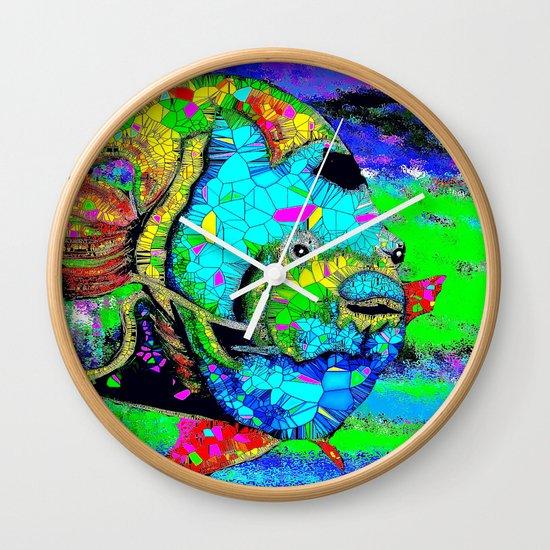 Angel Fish Swimming Through The Sea Wall Clock