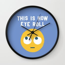 Snide Effects Wall Clock