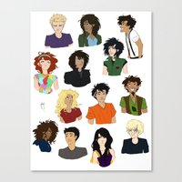 percy jackson Canvas Prints featuring Percy Jackson - Character Sheet by BBANDITT