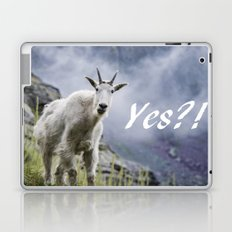 Yes?! Can I Help You? (Mountain Goat) Laptop & iPad Skin