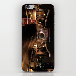 manhattan bridge at night iPhone Skin