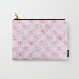 Vintage blush pink white elegant roses floral Carry-All Pouch