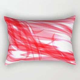 Red and smooth sparkling lines of pink ribbons on the theme of space and abstraction. Rectangular Pillow