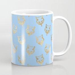 Elegant Gold Harp Pattern Coffee Mug