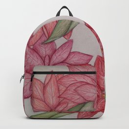 Christmas Pointsetta Wreath Backpack