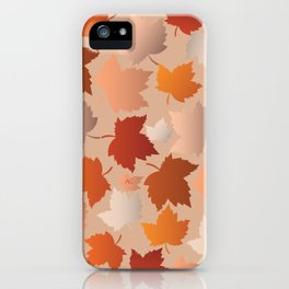 Pretty Autumn Leaves Pattern iPhone Case