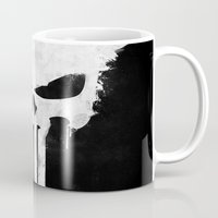 punisher Mugs featuring Punisher White by d.bjorn