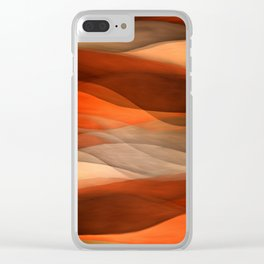"""Sea of sand and caramel waves"" Clear iPhone Case"