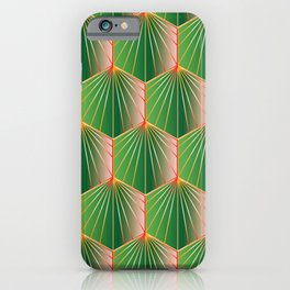 Glam Rock Peacock Green iPhone Case