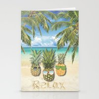 relax Stationery Cards featuring relax by ulas okuyucu