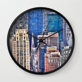 Patterns of Places - New York Wall Clock