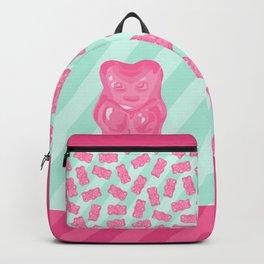 Pink Gummi Bear on Mint Background Backpack