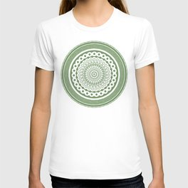 Green Circle Mandala T-shirt