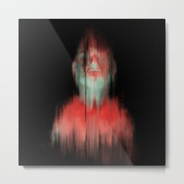 Glitchy Billy Metal Print