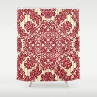 renaissance Shower Curtains featuring Renaissance Disco by Octavia Soldani