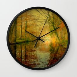 Forest Lake Wall Clock