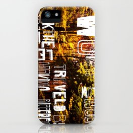 two roads  iPhone Case