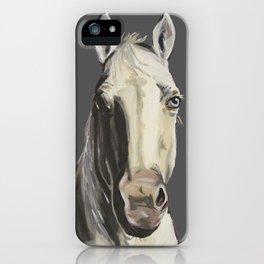 Horse Art, Grey Horse Art, Farm Animal Art iPhone Case
