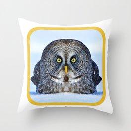 Chonky Owl Throw Pillow