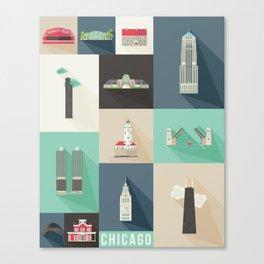 Chicago Landmarks Canvas Print