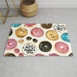 Colorful donuts with sprinkles Rug