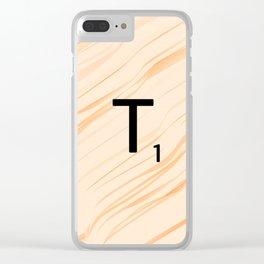 Scrabble Letter T - Large Scrabble Tiles Clear iPhone Case