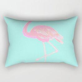 Mingo, the pink flamingo. Rectangular Pillow