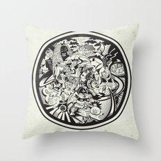 Circle Doodle Throw Pillow