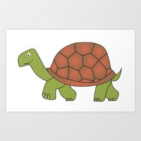 tortoise Art Prints featuring tortoise by siloto