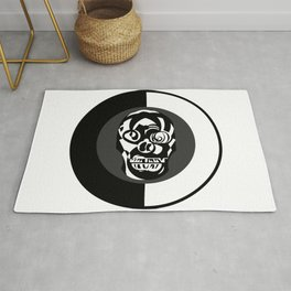 An Important Skull – In black and white background. Rug