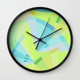 Citrus Blue Wall Clock