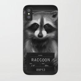 Raccoon Mugshot iPhone Case
