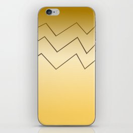 design lines ethnic on gold iPhone Skin