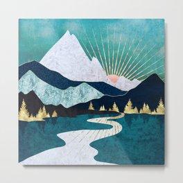 Winter River Metal Print
