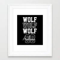 exo Framed Art Prints featuring EXO  Wolf by Sara Eshak