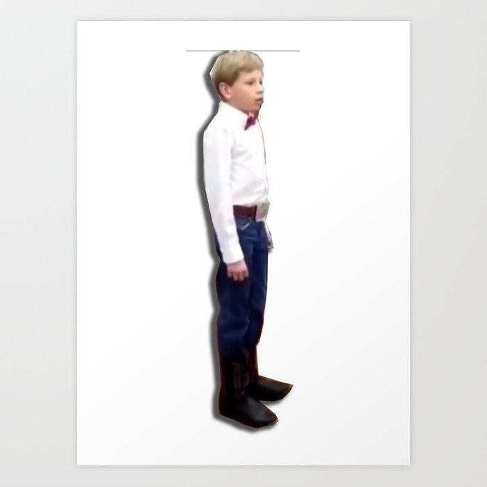 Yodeling walmart kid Art Print