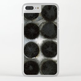 WATERCOLOUR DISCS: Black Spinel Clear iPhone Case