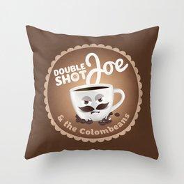 Doubleshot Joe Throw Pillow