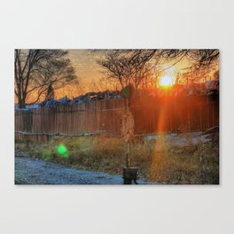 Sun Sets on the Junkyard Canvas Print