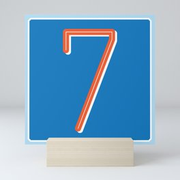The Lucky Number Seven Mini Art Print
