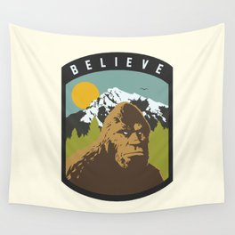 Bigfoot Patch Wall Tapestry