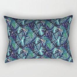 Jungalow Brights - Turquiose Palm Rectangular Pillow