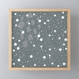 Snow Framed Mini Art Print