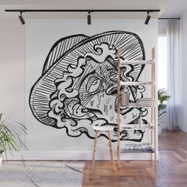 Exhausted Wall Mural