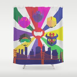Big Hero 6 - Heroes of San Fransokyo Shower Curtain