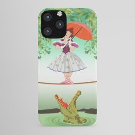 The Umbella girl With crocodile iPhone Case