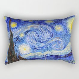"Vincent Van Gogh "" Starry Night "" Rectangular Pillow"