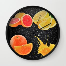 Delicious Juicy Fruit Wall Clock